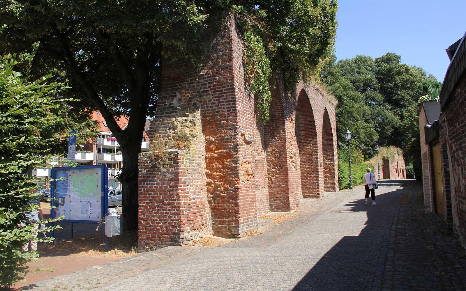 Signifikante historische Mauer