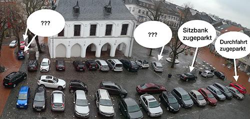 Fotoupload eines Teilnehmers zum Thema Parken am Markt